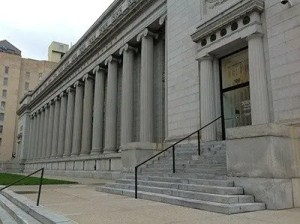 government building with columns and stairs leading to entrance