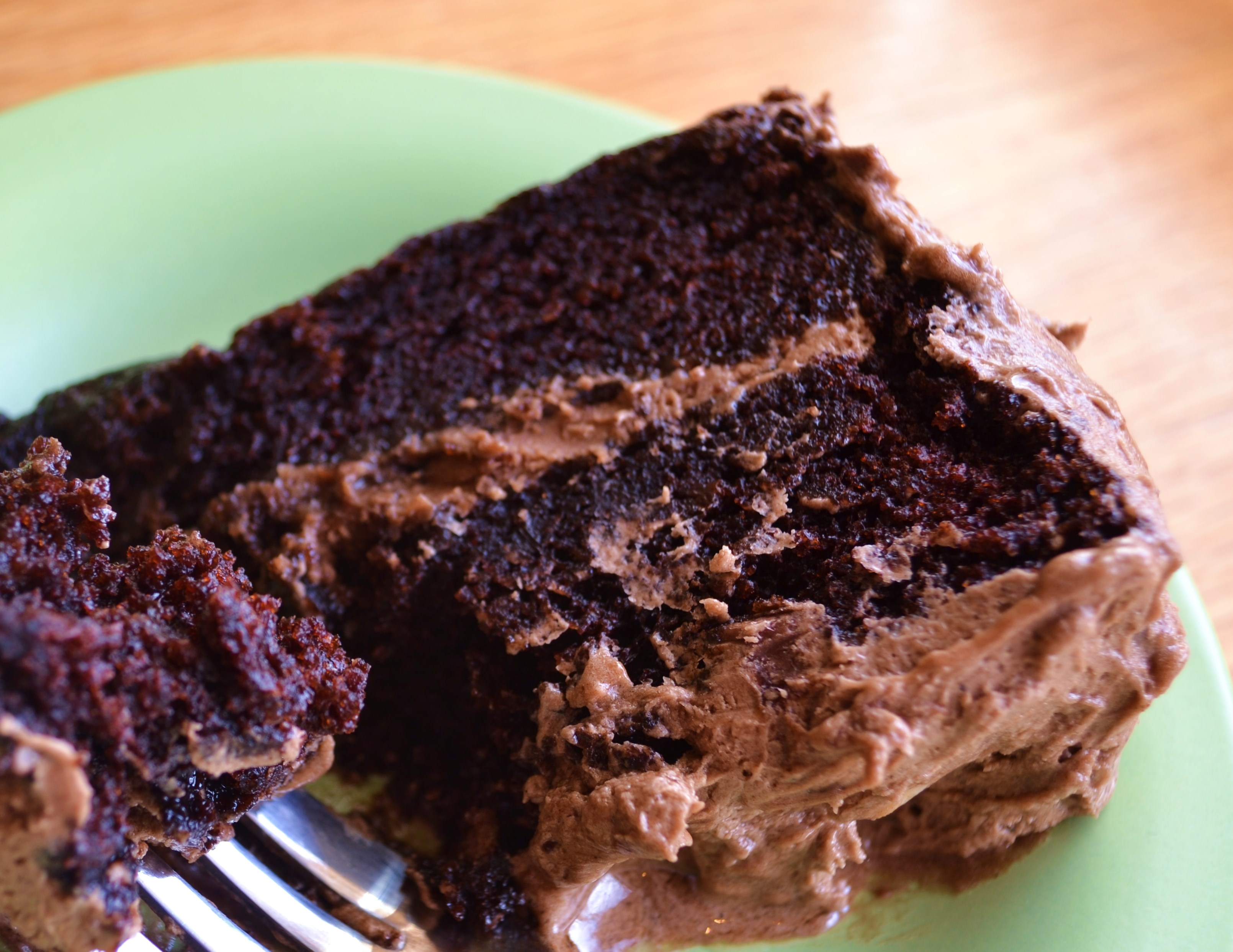 Moist Chocolate Layer Cake With Buttery Mocha Frosting