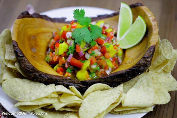 Fresh Mango Salsa from Welcome2OurTable.com