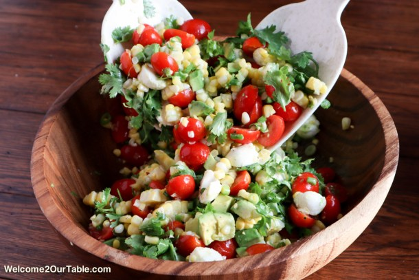 Summer Corn Salad form Welcome2OurTable.com
