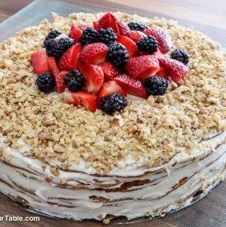 Gluten-free Medovik, Russian Honey Cake