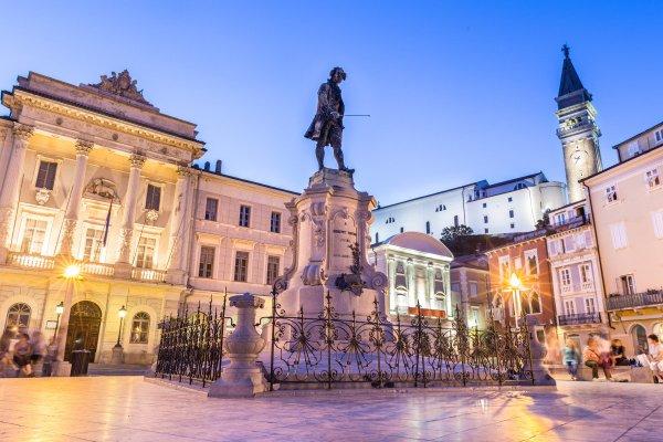 Площадь Тартини Пиран Словения