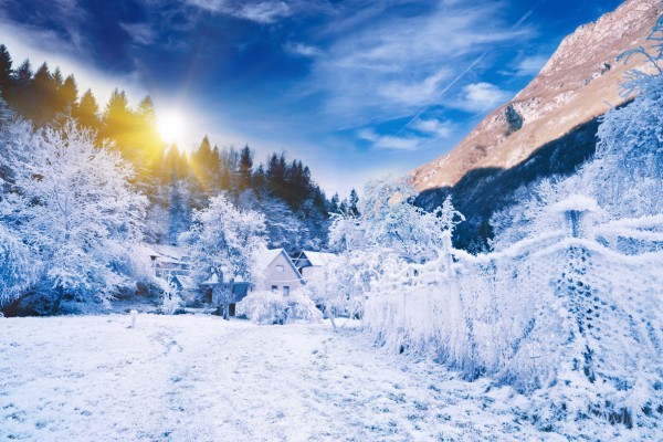 Вид на Триглав с курорта Краньска Гора