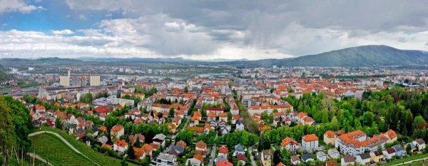 Вид на Марибор Словения