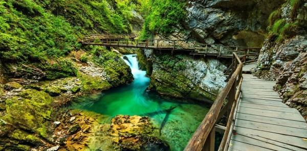 Достопримечательности Словении - ущелье Винтгар