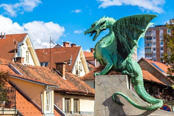 Достопримечательности Любляны - Драконов мост