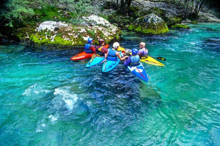 Горы Словении - каякинг на реке Соча
