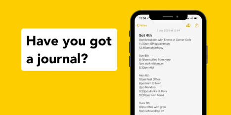 Creating a journal in the notes section on your phone takes 30 seconds