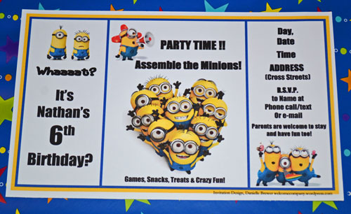 free despicable me party printables