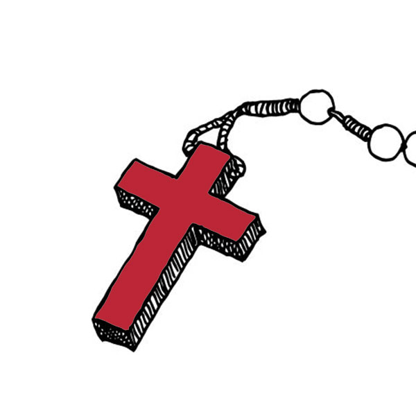 Highlighted cross for praying the Apostles Creed