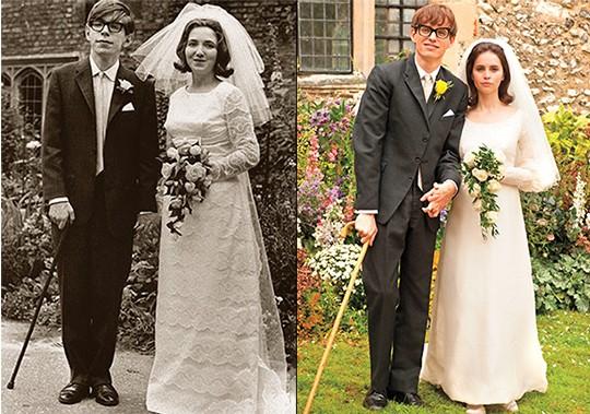 Stephen & Jane on left / Actors on right