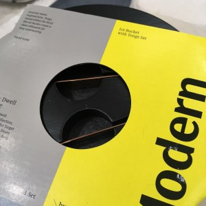 Modern by Dwell Magazine for Target ice bucket with tongs nestled in the lid.