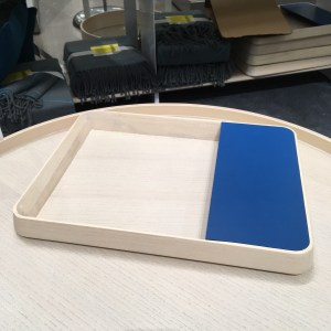 Modern by Dwell Magazine for Target tray. It's wood with a blue portion.