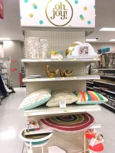 End cap display of Oh Joy! housewares collection at Target