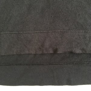 Closeup of the fabric of the Everlane dropshoulder tee.