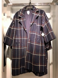 A blue, red, and white plaid coat, part of the Nordstrom Anniversary Sale.