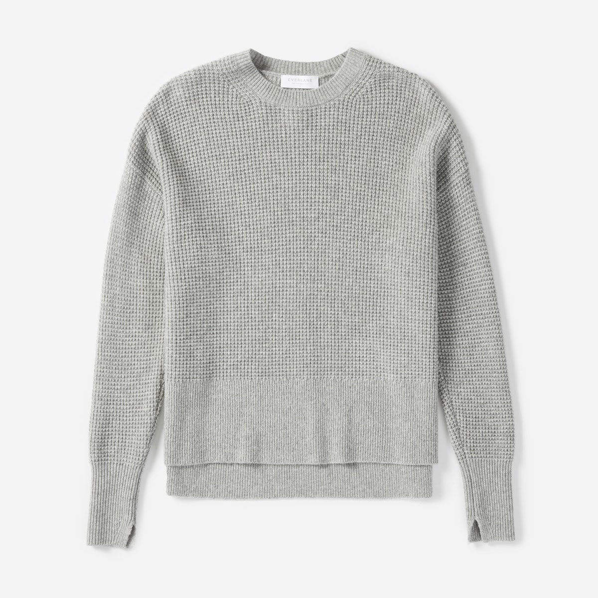 Everlane Waffle Knit Cashmere Square Crew Review