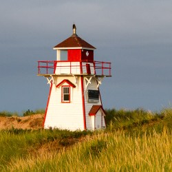 Historic and beautiful lighthouse in Covehead Prince Edward Island.