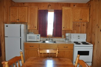 This is a photo of the kitchen in an Anne's Windy Poplar cottage.