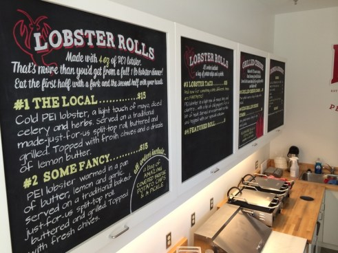 Check out the delicious menu at Dave's lobster