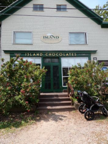 Entrance to the Island Chocolates Store