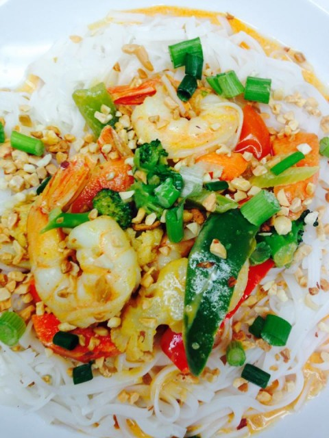 Dine at Mavor's this summer and don't miss out of the Thai curry shrimp over vermicelli