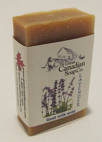 Lavender Goat Soap from the Great Canadian Soap Factory