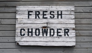 Fresh Chowder Fresh Chowder at Blue Mussel Cafe, Prince Edward Island