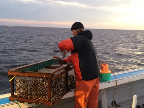 Fishing PEI Lobsters