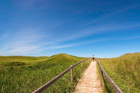 Walkway to Skinners Pond Beach, PEI