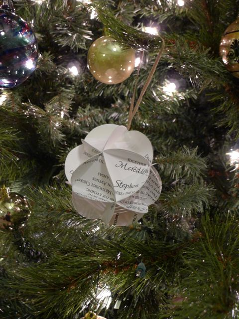 Tutorial Wedding Invite To Christmas Ornament Welcome