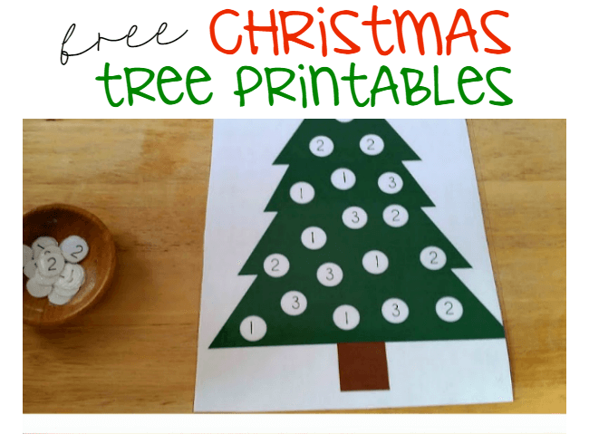 Christmas Tree Dot Printables
