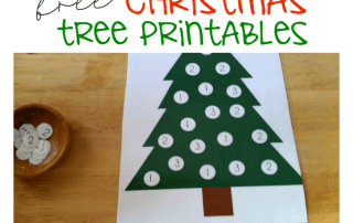 Christmas Tree Dot Printables