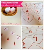 Free Printables: Valentine's Day Number Matching