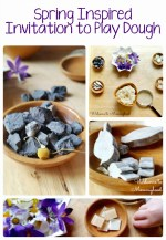 Calming chamomile play dough and invitation to explore spring
