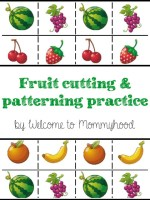 Free fruit cutting and patterning practice
