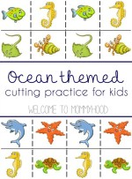 A guide to cutting activities and free ocean themed cutting practice