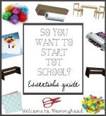 Tot school/preschool essentials without breaking the bank!