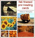 Fall themed pre-reading cards