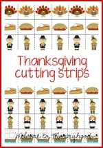 Thanksgiving cutting strips