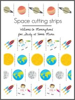 Space themed cutting strips