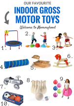 Our favourite indoor gross motor toys