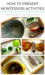 How to present Montessori activities to your kids