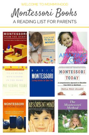 Montessori books for parents and caregivers #montessorihome, #montessori