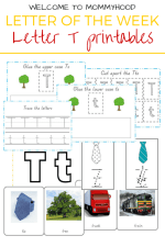 Letter of the Week: Letter T printables