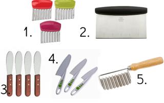 Types of kitchen knives for Montessori practical life activities