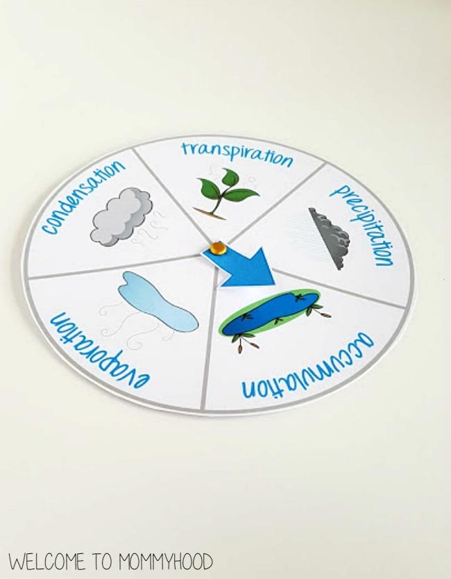 Water cycle for kids: montessori activities #montessoriactivties