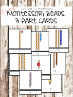 Montessori beads 3 part cards by Welcome to Mommyhood #montessori, #montessoriactivities, #mathactivities