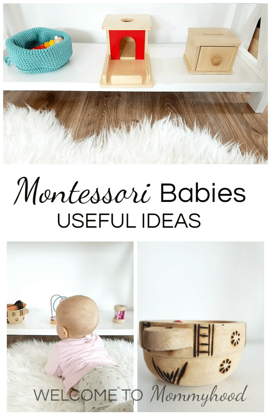 Montessori babies: This article shares ideas for bonding and engaging with your infant in a Montessori inspired environment.