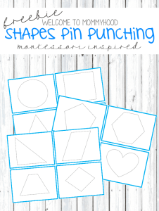 Montessori Shapes pin punching